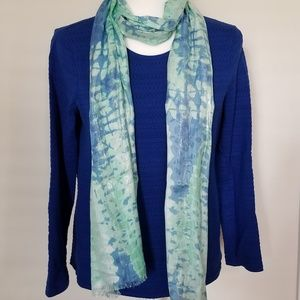 Lindsay Phillips Shades of Blue & Green Scarf